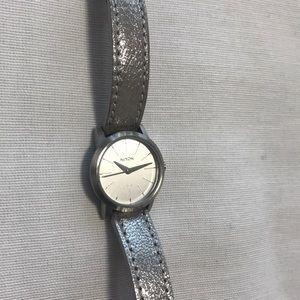 Nixon Womens Kenzi Stainless Steel Leather Watch